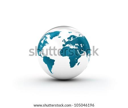 Shiny White Earth - stock photo