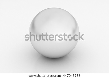 Shiny White Pearl isolated on white background. 3D render - stock photo