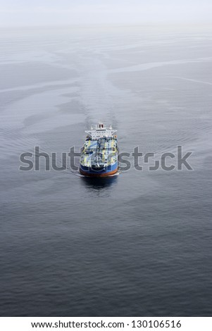 Ship Aerial View - stock photo