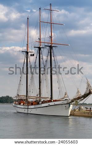 Ship at the quay - stock photo
