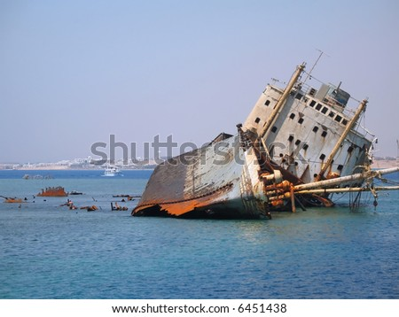 Ship in Egypt Red sea - stock photo