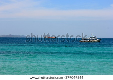 Ship in the sea Thailand