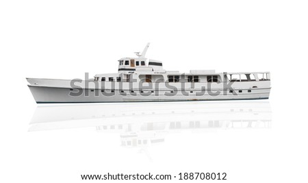 ship isolated over white background