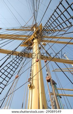 Ship masts - stock photo
