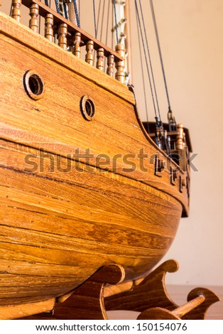 Ship models. - stock photo
