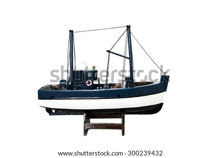 ship or boat with white background - stock photo