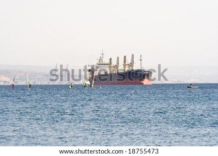 Ship over the Red Sea