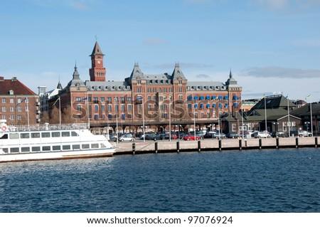 ship port city - stock photo