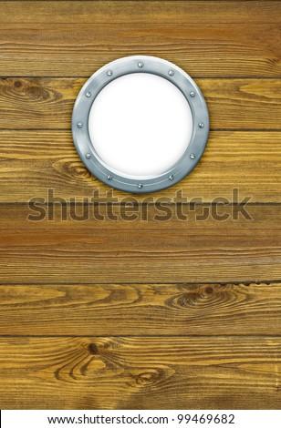 Ship Porthole Hole Frame Isolated On Stock Photo (Royalty Free ...