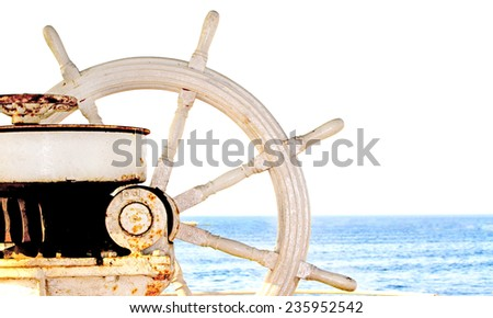 Ship rudder  - stock photo