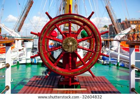 Ship rudder. - stock photo
