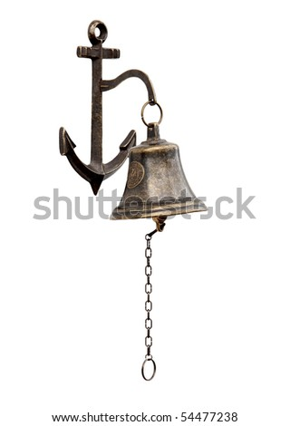 Ship's bell-chain isolated from a white background.
