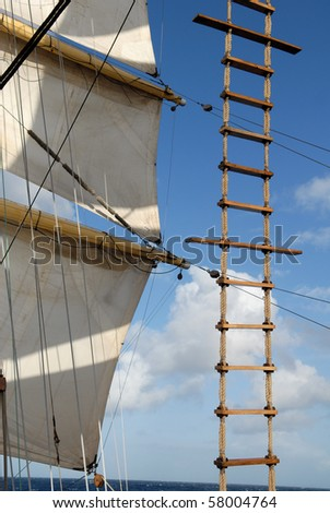 Ship tackles - stock photo