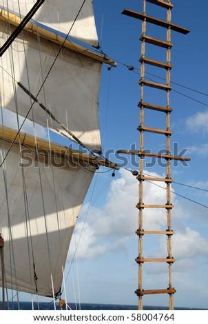 Ship tackles - stock photo
