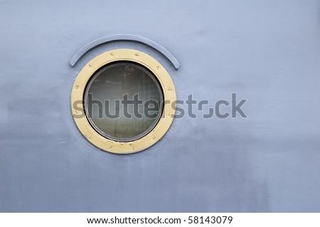 Ship window - stock photo