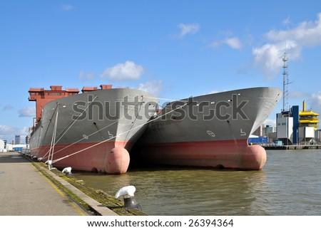 Shipbuilding - stock photo