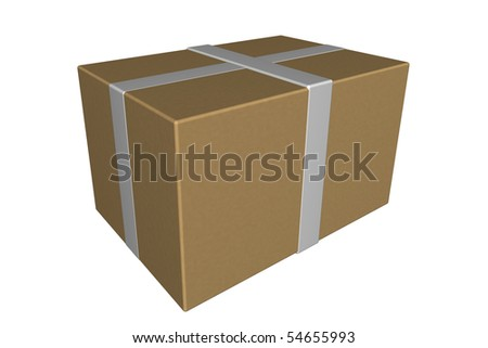 shipping box package - stock photo