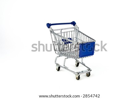 Shipping cart isolated on White