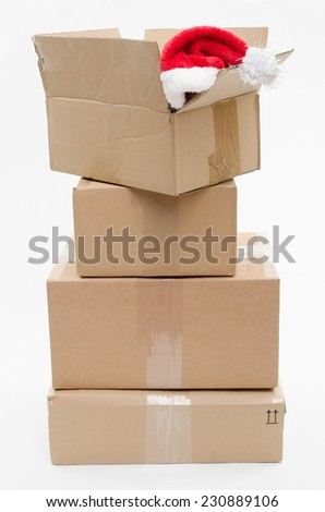 shipping for christmas - stock photo