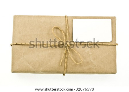 Shipping package sent through the mail - stock photo