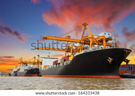 Shipping Port Thailand Stock Photo Royalty Free