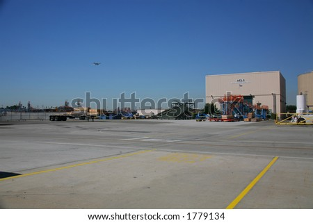 Shipping Receiving Area of Aerospace Plant - stock photo