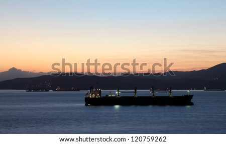 Ships at the coast of Algeciras, Andalusia Spain