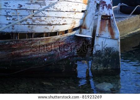 Ships rudder - stock photo
