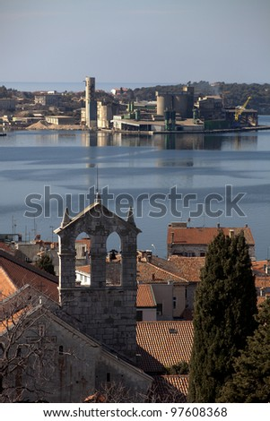 Shipyard in Croatia - stock photo