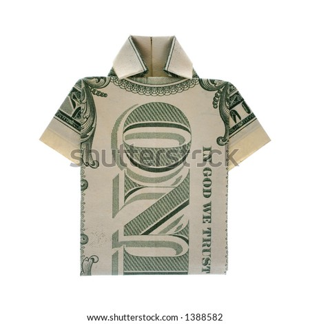 shirt for dollars - stock photo
