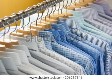 shirt on hangers - stock photo