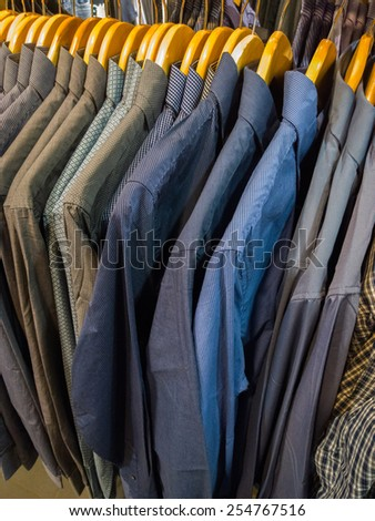 Shirts in the supermarket.  - stock photo