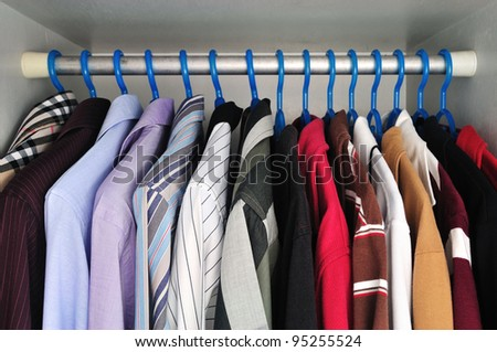 shirts that are hanging - stock photo