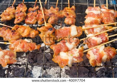 Shish kebab - stock photo
