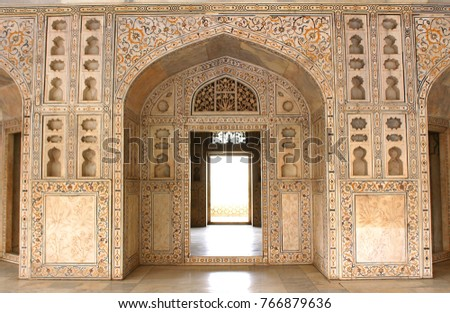 shish mahel- an epitome of marvellous  artwork, agra,india