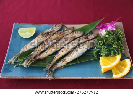 Shishamo grill - stock photo