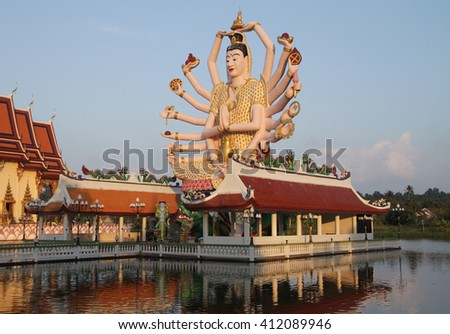 Shiva in Koh Samui at sunset