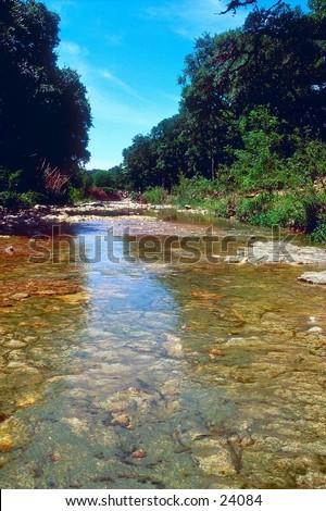 Shoal Creek in Austin, Texas - stock photo