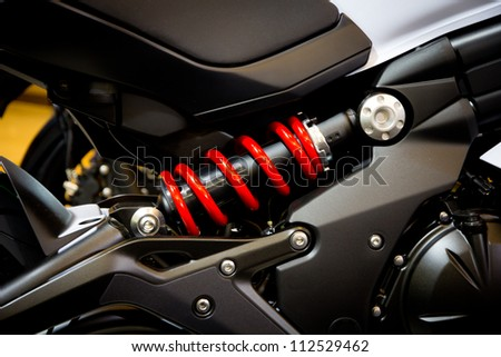 Shock Absorber's motorcycle - stock photo