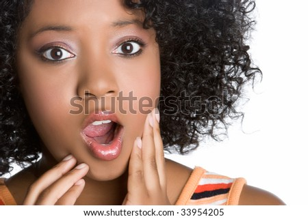 Shocked Black Woman