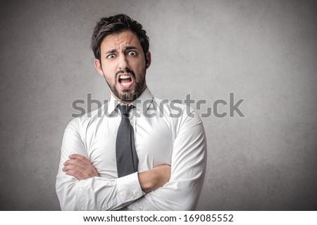 Shocked Businessman - stock photo
