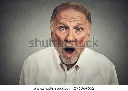 shocked man  - stock photo