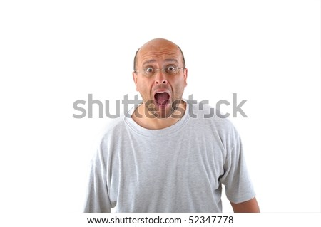Shocked man