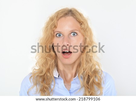 Shocked Young Woman Portrait.