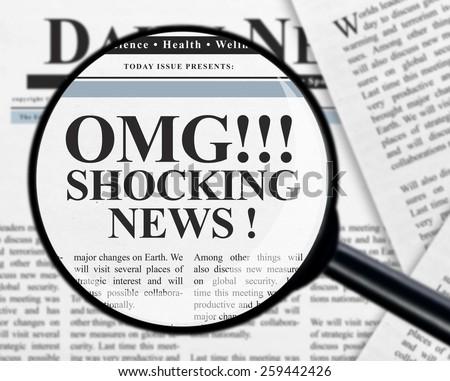 Shocking news headline - stock photo