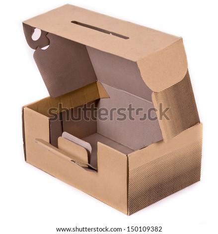 Shoe Box Isolated on white background. - stock photo