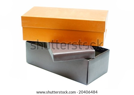 Shoe boxes - stock photo