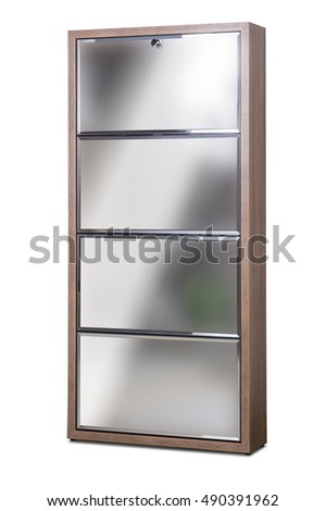 Shoe cabinet isolated on white.