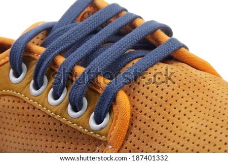 shoe laces - stock photo