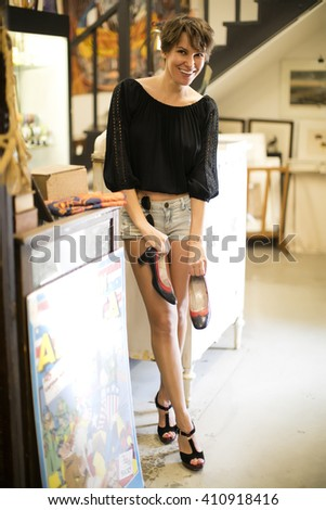 Shoe shopper - stock photo